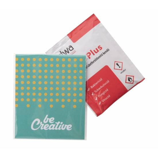 CreaWipe DWA One fertőtlenítő kendő papírkártyával - 1db