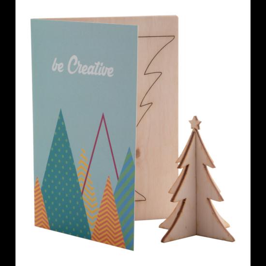 CreaX karácsonyi üdvözlőlap, karácsonyfa