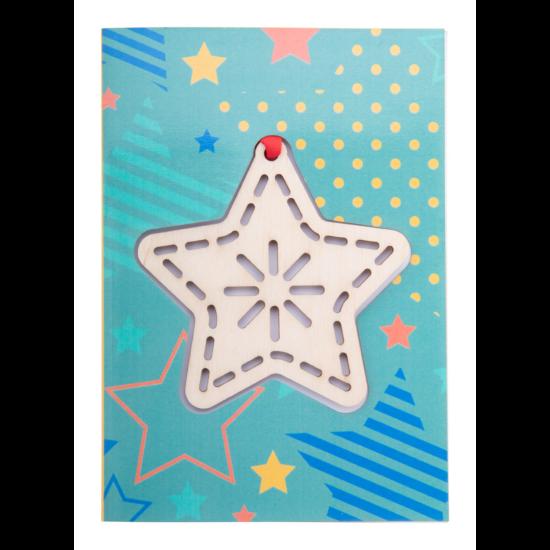 TreeCard karácsonyi üdvözlőlap, csillag