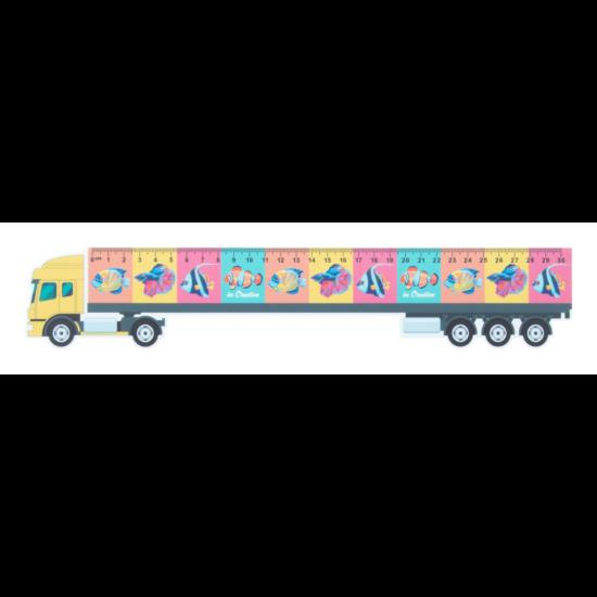 Trucker 30 kamion formájú vonalzó, 30 cm