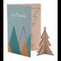 Kép 1/8 - CreaX karácsonyi üdvözlőlap, karácsonyfa