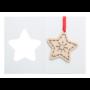 Kép 9/11 - TreeCard karácsonyi üdvözlőlap, csillag